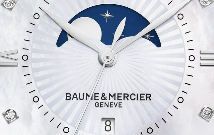 The Creative Yet Dainty New Women Baume & Mercier Classima Moon Phase Quartz Steel Replica Watch