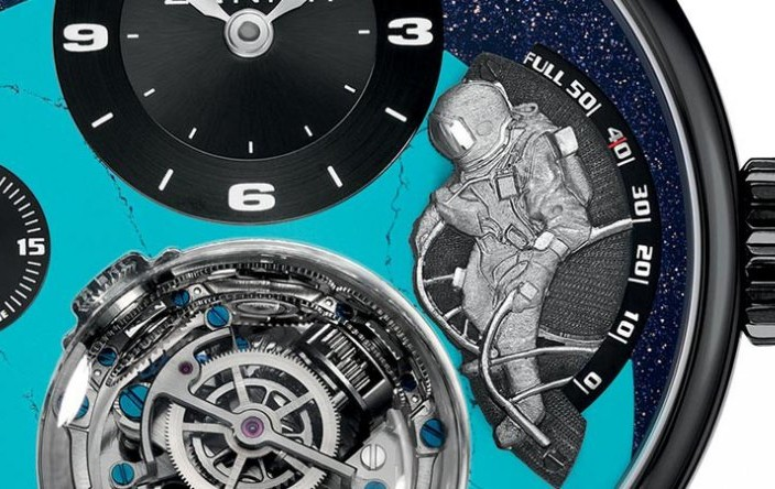 The Black DLC Zenith Academy Christophe Colomb Tribute To Felix Baumgartner Copy Watch