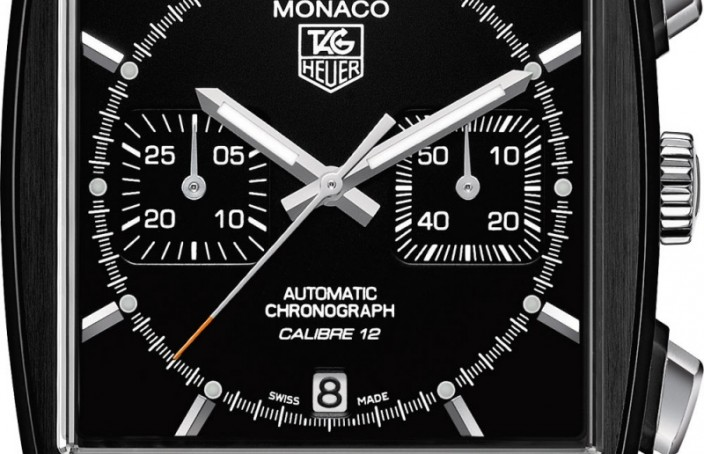 Black Fake TAG Heuer Monaco Heuer Calibre 12 Chronograph Automobile Club de Monaco Watch