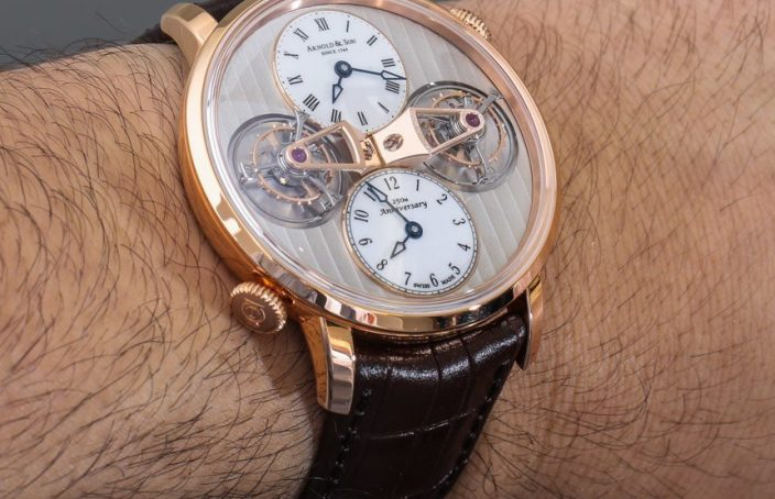 Arnold & Son DTE Double Tourbillon Escapement Watch Hands-On Hands-On