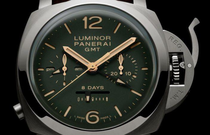 Panerai Luminor 1950 Chrono green dial PAM 737-1