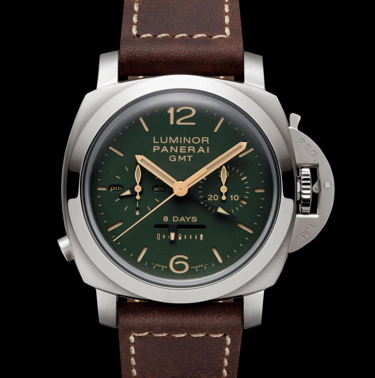 Panerai Luminor 1950 Chrono green dial PAM 737-3