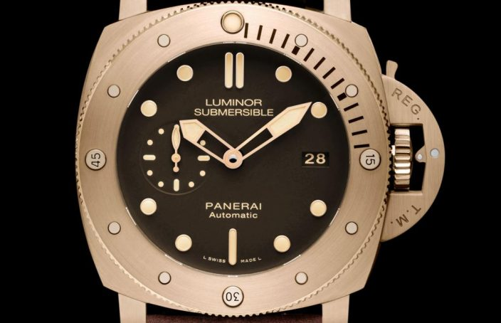 Panerai Luminor Bronzo unique brown dial London 1