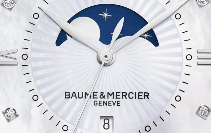 The Creative Yet Dainty New Women Baume & Mercier Classima Moon Phase Quartz Steel Replica Watch