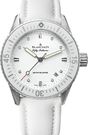 Blancpain Fifty Fathoms Bathyscaphe White Dial Replica Watches