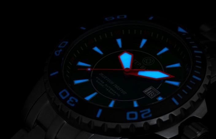 The Mens Deep Blue BlueTech Master 500 Diver Automatic Copy Watch